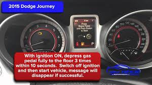 2015 dodge journey oil light reset service light reset youtube