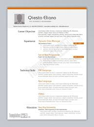 excellent resume templates best resume template programmer cv template best resume