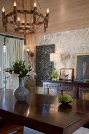 Gorgeous Dining Rooms With Stone Walls - Colonial dining rooms