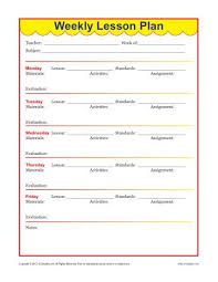 Weekly Lesson Plan Template Elementary weekly detailed lesson plan template elementary