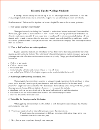 Student Resume Summary Resume Summary For College Student Free Resume Example And