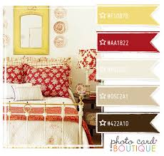 brown butter yellow and red paint walls light brown accent with