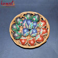 hand painted wholesale paper mache decoration use wooden easter