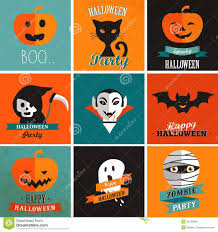 Happy Halloween Icons Halloween Cute Set Of Icons Stock Vector Image 43130908
