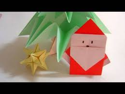 How To Make A Origami Santa - how to make origami santa simple origami santa claus papai noel de