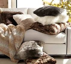 faux fur throw pottery barn