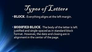Modified Block Letter Format by Letters Ppt Video Online Download