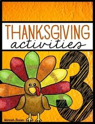 thanksgiving activities packet for 3rd grade by the classroom key