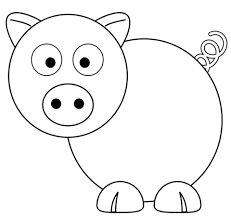 cartoon pig coloring free printable coloring pages