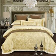 luxury bedding sets jacquard bedspreads gold yellow duvet cover