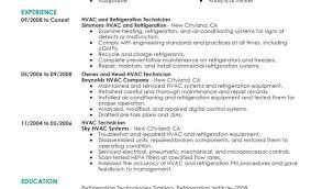 hvac sample resume entry level and hvacr sample resume hvac