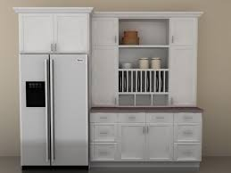 simple white glossy wooden door kitchen pantry cabinet ideas