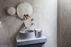 Concrete Bathroom Sink by Tough Love A Creative Couple U0027s Brutalist House In Mexico City