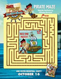 jake neverland pirates printable maze printable coloring
