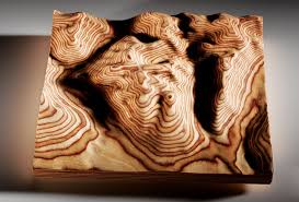 show off your favorite topography with google sculpted woodwork
