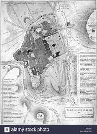 Map Of Jerusalem Map Of Jerusalem Circa 1835 Stock Photo Royalty Free Image