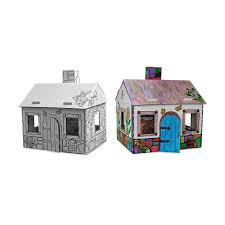 cardboard cottage doll house cardboard playhouse paint color