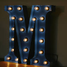 large light up letters vintage marquee circus light up letter m blue the consortium