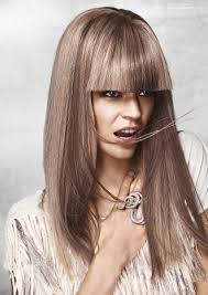 updos for long hair one length straight hairstyle with thick one length bangs