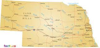 Lincoln Ne Map Nebraska Map Blank Political Nebraska Map With Cities