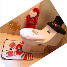 Santa Claus Rugs Aliexpress Com Buy 3pcs Set Christmas Toilet Seat Cushion Toilet