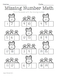 easter math graphing missing number counting on u0026 ten frames