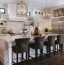kitchen room elegant kitchen island stools with backs with plant