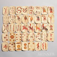 painted cards for sale thirty nine apache painted rawhide cards sale number 2791b