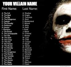 Name Of Memes - your villain name weknowmemes