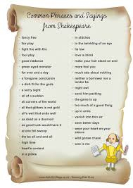 common phrases and sayings shakespeare