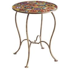 Patio Accent Table Patio Accent Table Attractive Mosaic Orvieto Regarding