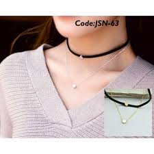 choker necklace stores images 2 layer with chain choker necklace online artificial jewellery jpg