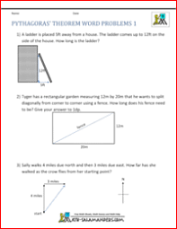 pythagorean word problems worksheet free worksheets library