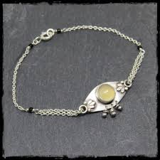 style silver necklace images Bracelet art nouveau style sterling silver and chalcedony silver chain jpg