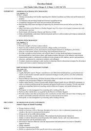 resume objective for students exles of ode psychologist resume sles velvet jobs