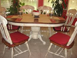 Distressed Kitchen Tables Awesome How To Paint Kitchen Table And Chairs With Oval Dining Six