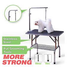 dog hair cutting table folding dog grooming tables ebay
