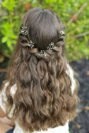 Frisuren Lange Haare Halboffen by Kommunionfrisuren Zum Selbermachen Festliche Kinderfrisuren Für