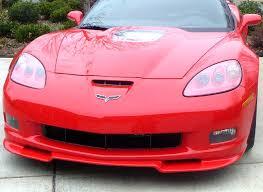 corvette front c6 gs z06 corvette zral 1 front chin spoiler splitter painted