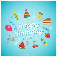 happy birthday card with ice cream vector free download