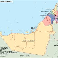 Dubai India Map by United Arab Emirates Political Map Eps Illustrator Map Our