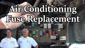 air conditioning fuse replacement youtube