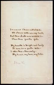 writing paper with space for picture documents valentine greetings florence griswold museum apparently the writer did not leave enough space for the third stanza of the message a spray of cornflowers or a pair of turtledoves with the message