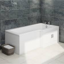 orchard myspace water saving right handed l shaped shower bath myspace water saving l shape shower bath right hand with storage panel