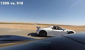 porsche 918 racing mclaren 720s vs ferrari f12tdf u0026 porsche 918 spyder