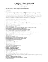 Server Job Description Resume Sample by Best Photos Of Vet Tech Resume Sample Veterinary Technician
