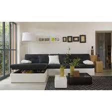 site de vente de canapé canapés d angle canapé d angle convertible noir et blanc