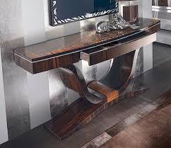 Designer Console Tables Sunburst Macassar Stylised Designer Console Table