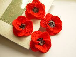 Tiny Flower Crochet Pattern - crochet red poppies 3d flowers crochet boutonnieres and 3d