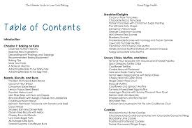 cookbook table of contents the ultimate guide to low carb baking sugar free grain free low